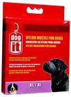 Dogit Soft Nylon Dog Muzzle Black X-Large 9 inch