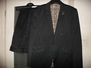 "red herring   black pinstripe suit  38"" chest"