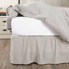 """Vhc Americana Bed Skirt Dust Ruffle King Queen Twin Cotton Traditional 16"""" Drop"""