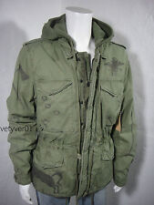 NWT RALPH LAUREN D&S Hooded Military Field Jacket Army Green size S