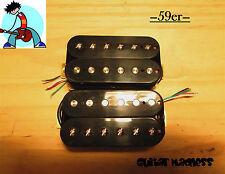G.M. 59'er Alnico 5 Black Humbucker Set (4-wire) for Gibson Les Paul Epiphone