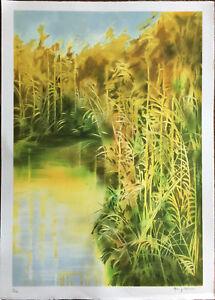 Marco Borgianni litografia Riflessi di Luce 70x50 firmata numerata 62/100