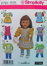 New Pattern 2761 Doll Clothes Love to Cook fit 18 inch American Girl