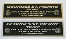 Georges St. Pierre GSP UFC nameplate for signed mma gloves photo case