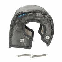 T4 Carbon Fiber Turbo Blanket Heat Shield Turbocharger Cover Wrap Black Color