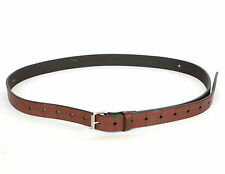 KRIS VAN ASSCHE $310 thin brown italian leather grid pattern belt 100/40 XL NEW