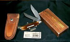 Schrade 25OT Knife & Sheath Circa-1970's Old Timer Bowie W/Packaging,Papers Rare
