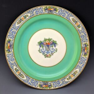"""Lenox China Vintage The AUTUMN Green Accent 9"""" Luncheon Cabinet Plate X77G c1923"""