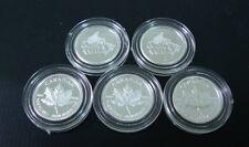 5 x étui Capsules pour pièces de monnaies Housses protection 1 Grammes d'argent