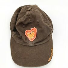Life Is Good Girls Youth Baseball Hat Cap Brown Heart Embriodered Strapback