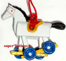 Dept. 56 Pewter Ornament  00004000 Tiny Trimmings Rocking Horse on Wheels New 88512