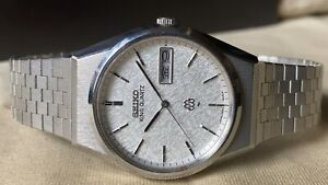 Vintage SEIKO Quartz Watch/ KING TWIN QUARTZ 9223-8000 SS 1981 Original Band