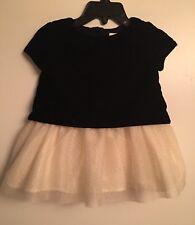 BABY GAP Girl's NWOT Black Velvet & Sparkly Ivory Tulle Dress & Bloomer 12-18 MO