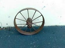 "Antique Farm Agricultural Implement Equipment Steel Wheel 28-1/2"" x 5"" Yard Art"