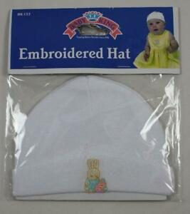 Baby King Embroidered Knit Infant Hat Easter Bunny & Egg NEW