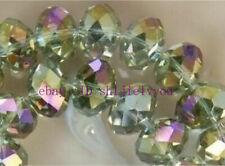 140pcs 5x8mm Multicoloured Natural Crystal Loose Bead AAA