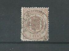 "Nederland 13 met ""ASSEN 1872"" franco-takje  VFU/gebr  CV 20 €"