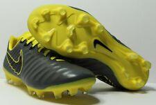 Nike Tiempo Legend 7 Pro FG Gray/Yellow/Black Ah7241-070 Size 8