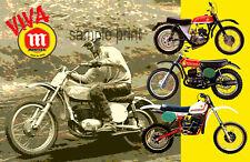 Vintage Motocross Montesa poster