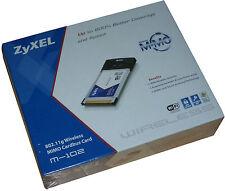 Zyxel MIMO M-102 802.11g Wireless CardBus Card Neu !!!                       *20