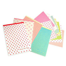 48sh Cute Polka Dot Letter Lined Writing Stationery Paper Pad 8Various Design