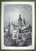 GERMANY Trier Treves Cathedral - VICTORIAN Era Print