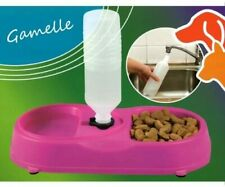 Pet Food Bowl for Cats and Dogs with Water Refill System Green Colour