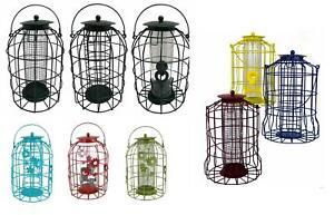 Hanging Metal Squirrel Proof Feeding Station Peanut/ Seed/ Fat Ball Bird Feeder