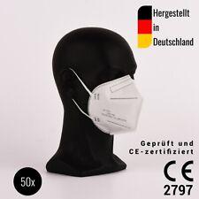 50 Stück FFP2 Halbmasken, zertifiziert CE2797 - hergestellt in Deutschland