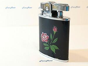 Vintage Compact LIGHTER Flower Design / Complete, Clean, & Works Great!  [3028]