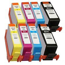 8x Cartuchos para HP Photosmart 5510 5515 6510 B110a B010A/364xl Nuevo con chip