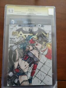 HARLEY QUINN 1 OF 1 HAND SKECTHED AND SIGNED DANIEL LESTER CGC 9.2 ONE OF A KIND