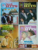 Smash Hits magazines Wham Covers & Features Set of 4 China Japan Pop 80's