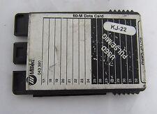 MILLER WELDING 60-M DATA CARD