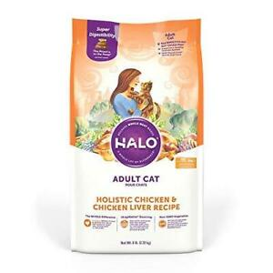 Halo Natural Dry Cat Food - Premium and Holistic Real Whole Meat - Chicken &