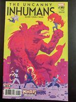 The UNCANNY INHUMANS #1mu (2017 MARVEL Comics) ~ VF/NM Comic Book