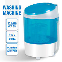 Mini Washing Machine Semi-Automatic Spinner Dryer Washer Portable Laundry Blue