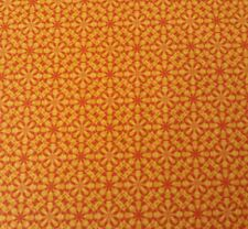 Orange Yellow Geometric Floral BTY From Closed Quilt Shop