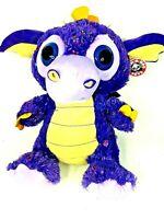"Peek-a-Boo Toys FIRESTAR the DRAGON Purple 15"" Plush w/Tags Sparkly Starfire"