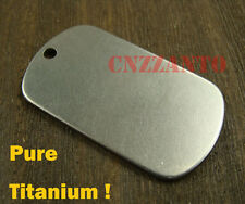 Pure Titanium Personalized dog tag Military Army necklace pendant anti-allergy
