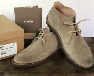 Astorflex Greenflex Men's Stone Colored Postwar Chukka Boots in Size Euro 45