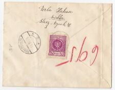 Judaica Poland Perla Kahan Siedlce to court of law Biala Podlaska cover 1926