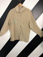 Vintage Retro 90's silk top/ blouse/ shirt 'City Lights' Beige