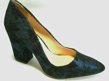 BRAND NEW VINCE CAMUTO Size 6.5M Blue Black Floral Fabric Heel Pumps Shoes