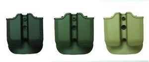 IMI New Black Green Desert Tan Double Mag Pouch for RUGER P89-P95 SERIES (9/40)