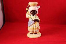 """Vtg 1978 Franklin Hand Painted Porcelain """"Diodu from Nigeria"""" U. N. Children coa"""