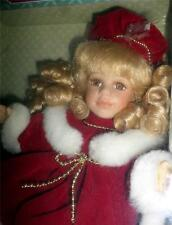 Nos Classic Treasures Genuine Fine Bisque Porcelain Christmas Doll Cute Up2 Look