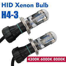 55W H4-3 Bi-xenon H4 HID Hi/Lo Replacement Globe Light Bulb 4300K Globe Lamps