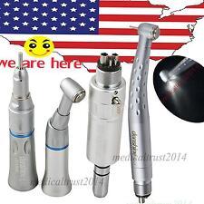 dental low speed kit & 1PC high speed LED handpiece push 4 hole FIT KAVO turbine