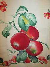 Vintage Kitchen Tea Towel Cotton Fabric Bold Red Tomatoes Vines Handmade 2 avail